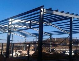 志丹采油厂保卫科基地新建钢结构煤棚工程